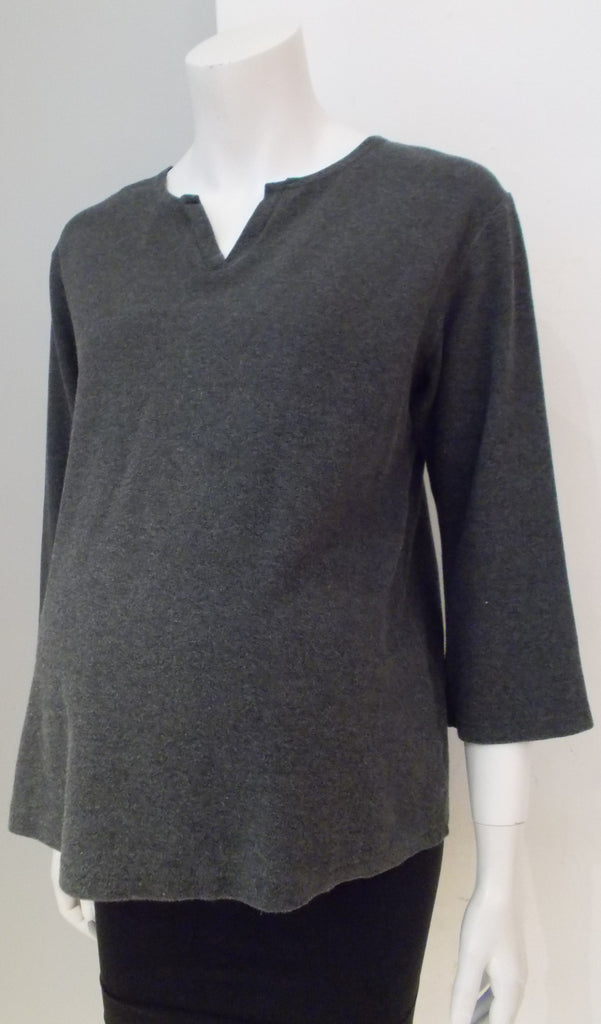 Rhonda Maternity grey 3/4 sleeve sweater