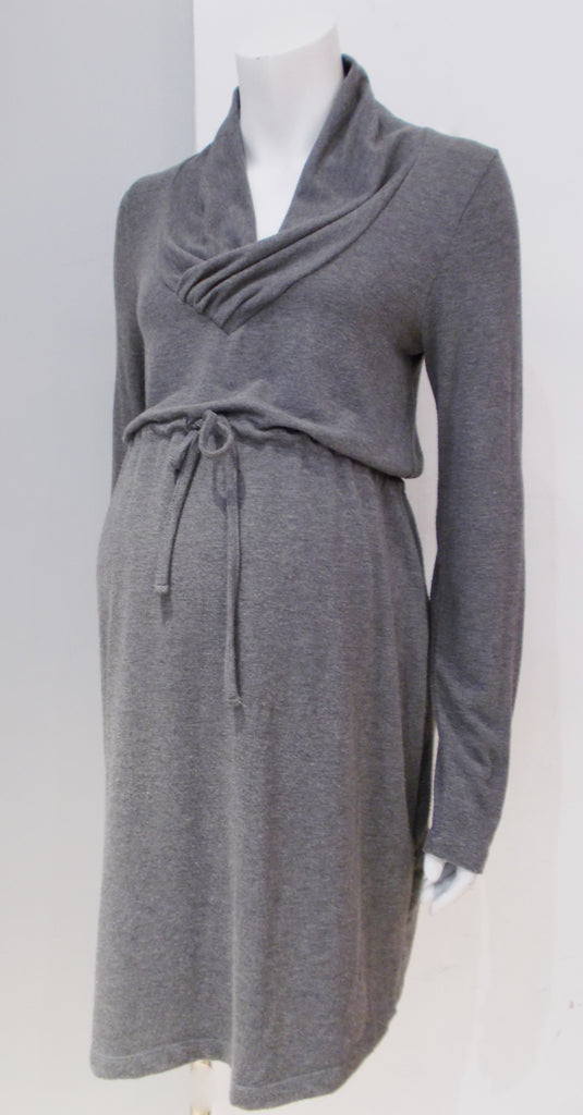 Belly Button maternity grey sweater dress
