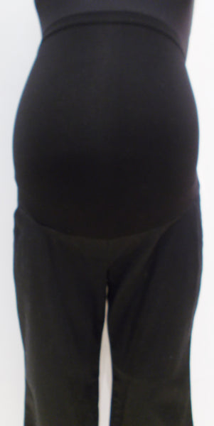 "Motherhood Maternity black full belly panel bootcut dress pants 28""L"