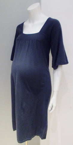 Gap Maternity blue square neck sweater knit dress