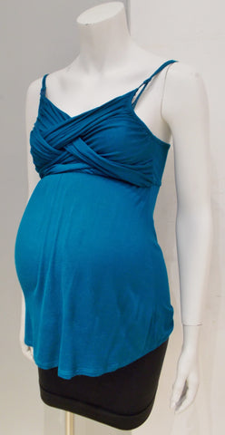 Motherhood Maternity teal nursing tank