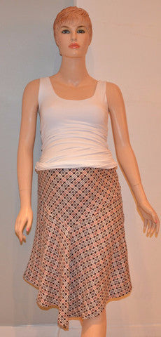 Tummi - Square printed skirt