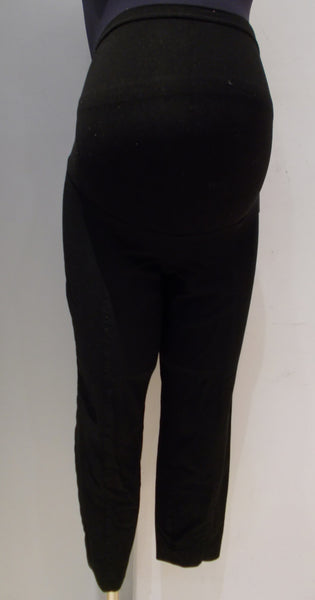 A Pea In The Pod Maternity black slim leg cropped dress pants