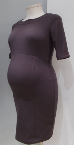 Rhonda Maternity purple 3/4 sleeve dress