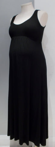 Nicole for A Pea In the Pod Maternity black maxi tank dress