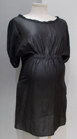 Cotelac black silk shift dress