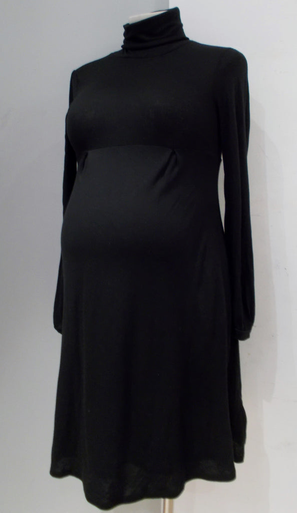 Gap Maternity black long sleeve turtleneck dress