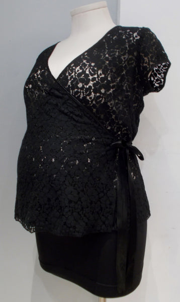 Old Navy Maternity black lace top