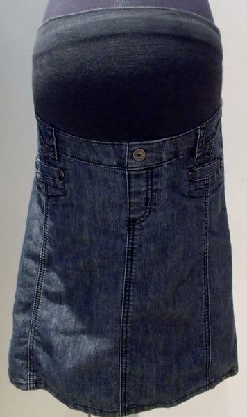 Thyme Maternity medium wash jean skirt