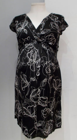 Mexx Maternity black print lined mesh dress