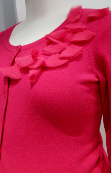 Motherhood Maternity Hot Pink Ruffle Cardigan