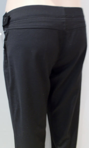 N/A black bootcut dress pants with adjustable waist tab