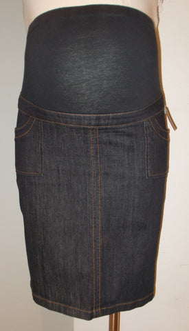 Tomorrow's Mother Maternity medium wash denim skirt