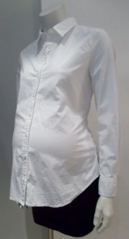 Gap Maternity white button up dress shirt
