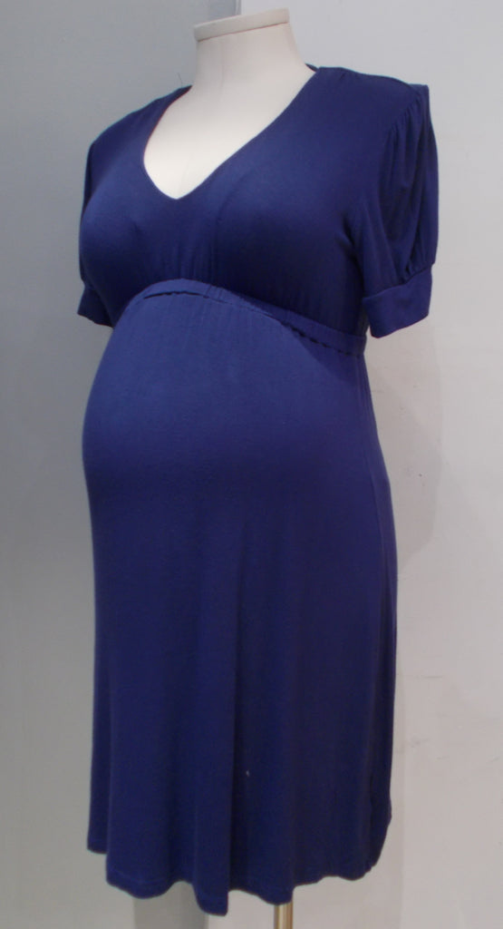 Hatch Maternity purple short sleeve dress