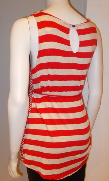 Motherhood Maternity red striped tank top