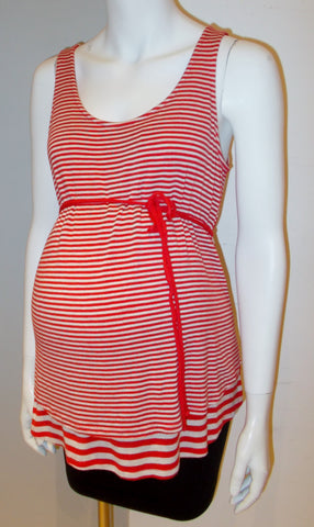 df8f4ff6a541b Motherhood Maternity red striped tank top. Motherhood Maternity red striped  tank top.  22.00. Old Navy Maternity - Basic Cami with Shelf Bra