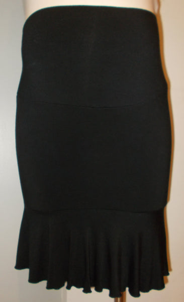 Hatch Maternity Black Fold Over Jersey Skirt