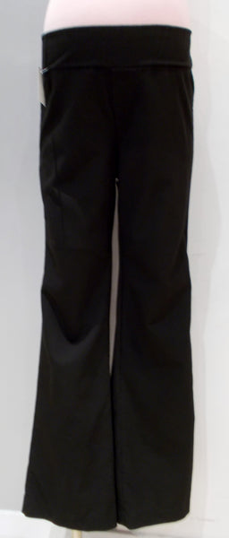 Tomorrow's Mother Black Underbelly Bootcut Dress Pant