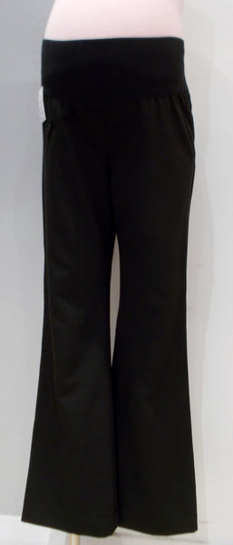 Transitions Maternity black underbelly straight leg dress pants