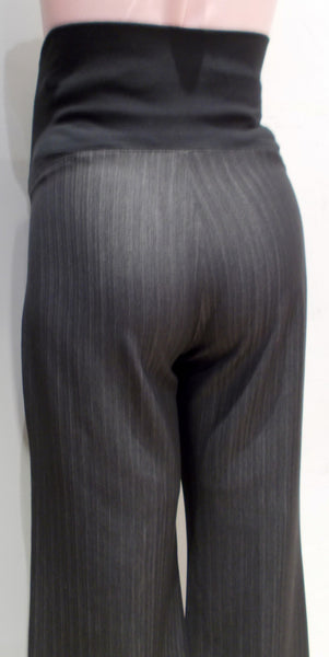 "Thyme Maternity grey pin stripe full belly suiting pants 31""L"