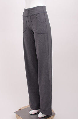 Lululemon Athletica grey drawstring flare yoga pants