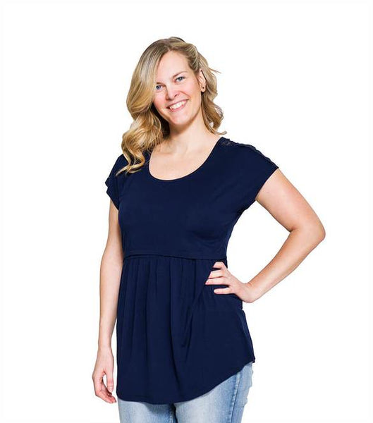 Momzelle Nursing Top Florence Navy