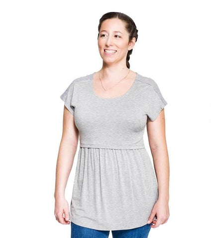Momzelle Nursing Top Florence Grey