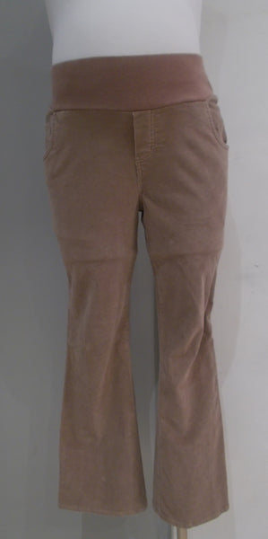 Duo Maternity - Front Panel Tan Bootcut Cords