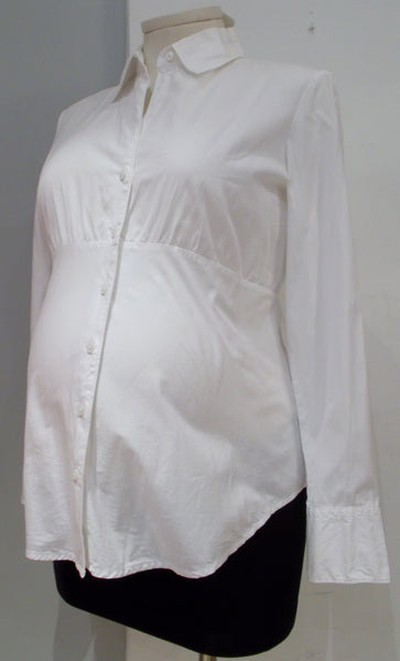Gap Maternity white empire waist dress shirt