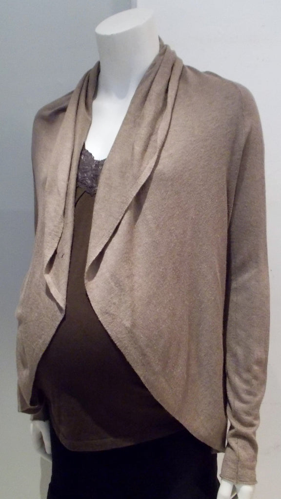 Line brown long sleeve open front cardigan