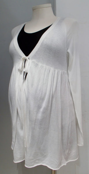 Gap Body Maternity cream longline cardigan