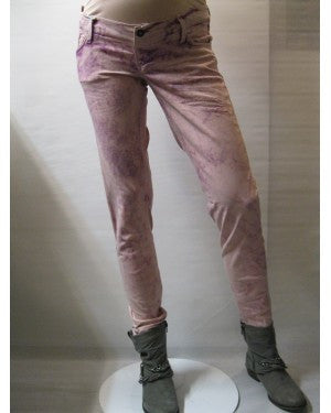 Queen Mum Maternity Distressed Pink Skinny Jeans