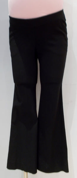 Motherhood Maternity Black Elastic waist cropped dress pant