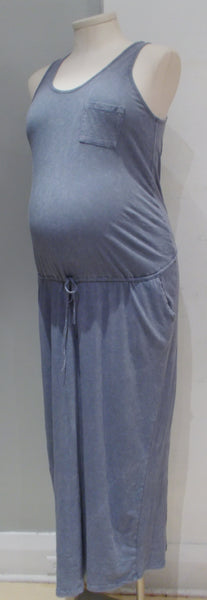 Thyme Maternity Tank Maxi Dress with Drawstring waist and pockets