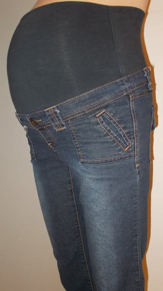 Thyme Maternity - Full Panel Denim Capri
