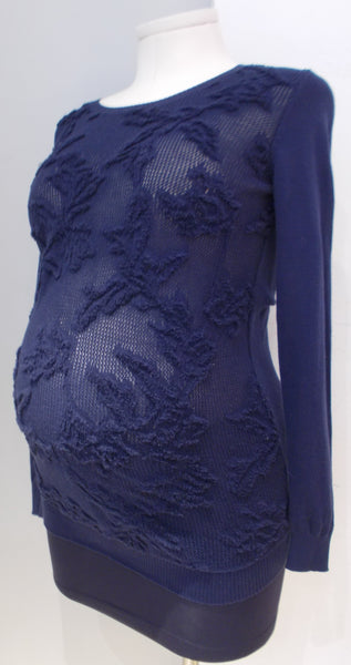 Thyme Maternity Navy Sweater