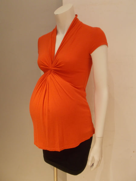 Olian Maternity orange twist top