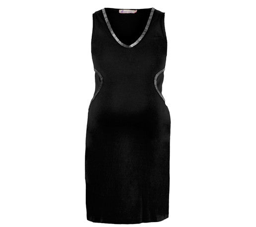 Queen Mum Sleeveless dress with beaded neckline