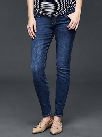 Gap Maternity 1969 demi panel true skinny jeans