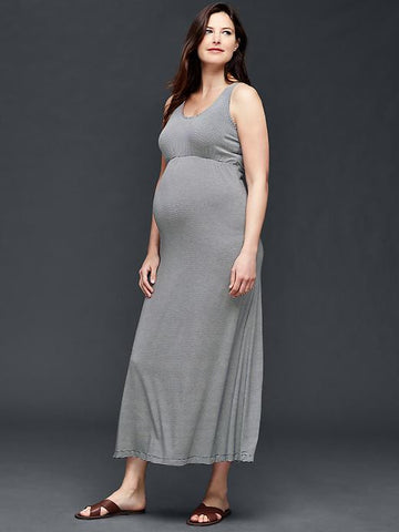 Gap Maternity Tank maxi dress Navy Stripe