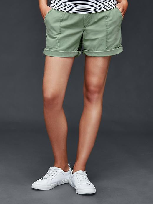 Gap Maternity Demi panel girlfriend utility shorts