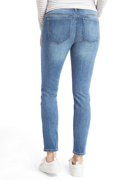 Gap Maternity STRETCH 1969 demi panel true skinny jeans