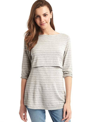 Gap Maternity stripe layer nursing tee