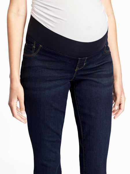 Old Navy Maternity Rockstar Low-Panel Slim Boot-Cut Jeans