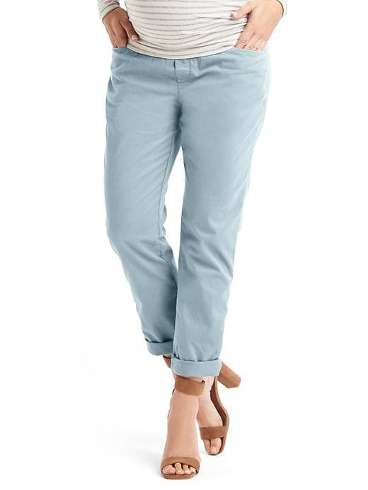 Gap Maternity demi panel best girlfriend pacific mist chino pant