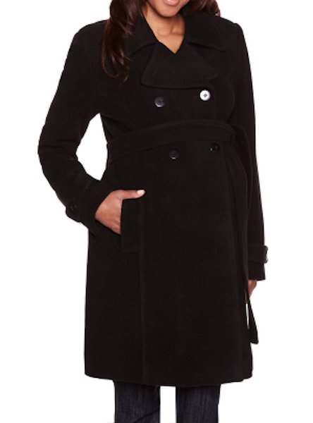 Thyme Maternity Double-Breasted Wool Coat