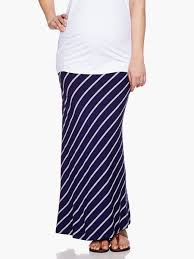 Thyme Striped Maternity Maxi Skirt