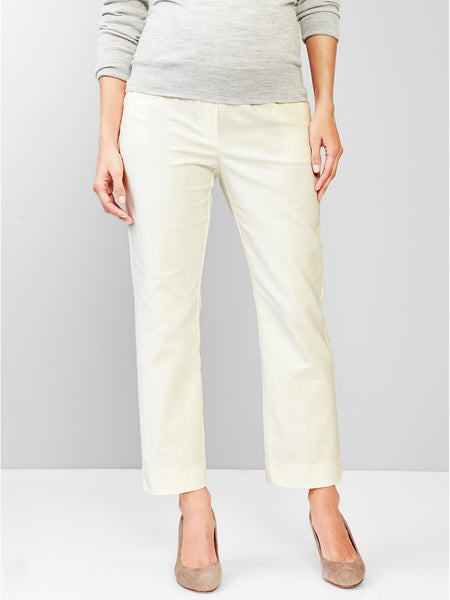 Gap Maternity full panel slim cropped pants white size:18