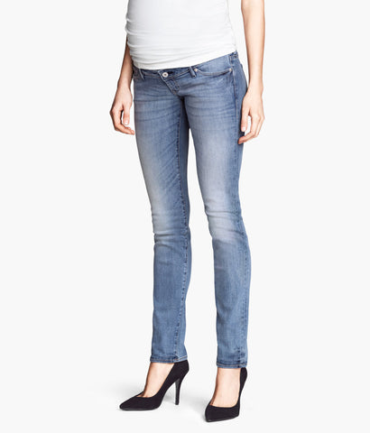 H&M Mama Straight Jeans Light Wash